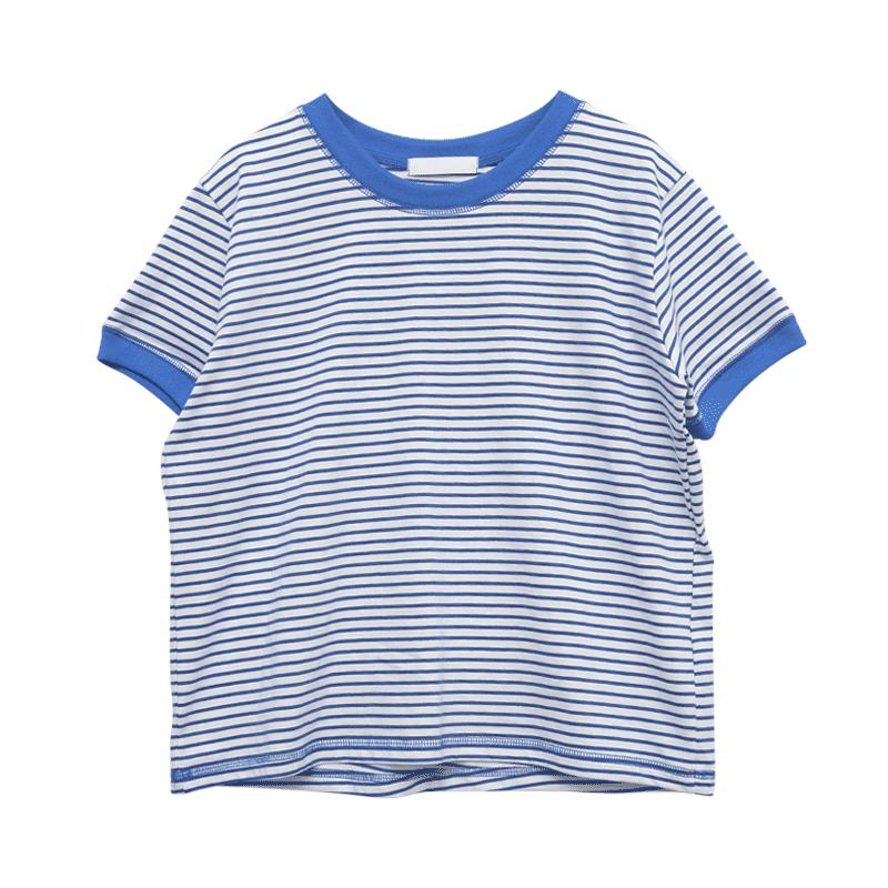 休閒活力條紋短袖T恤
