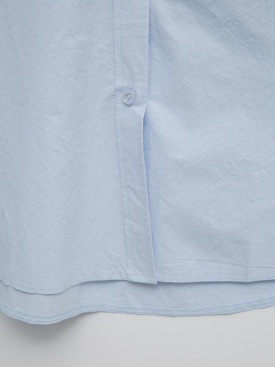 레터콤보자수 코튼박시셔츠