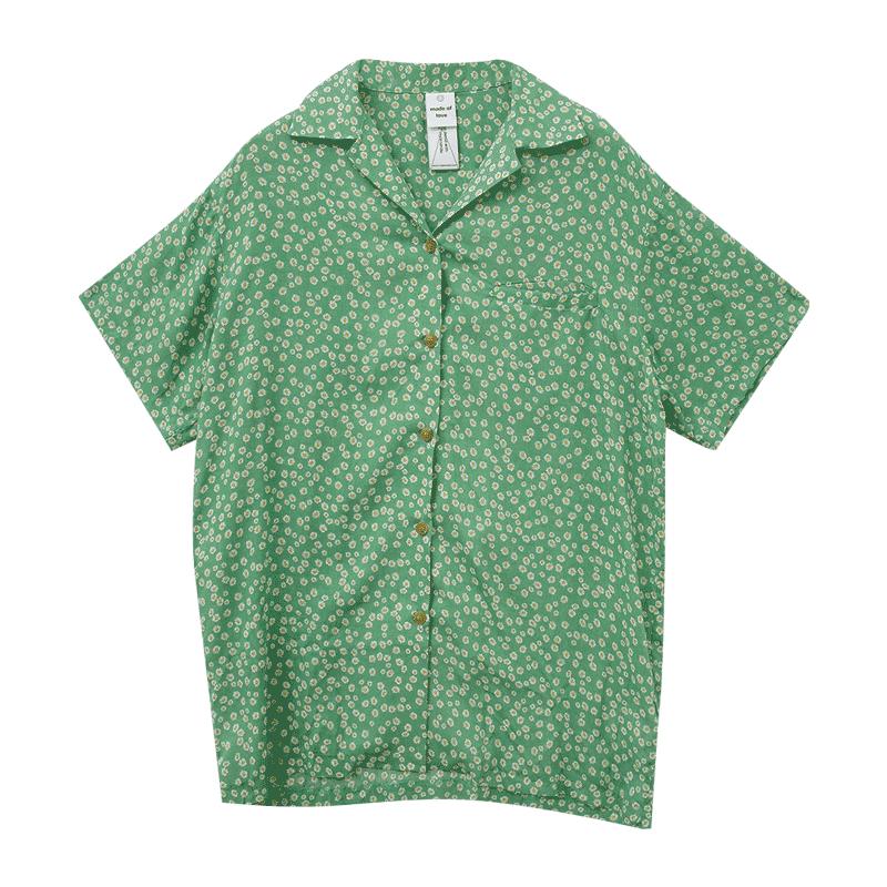 데이지블루밍 하프블랑셔츠