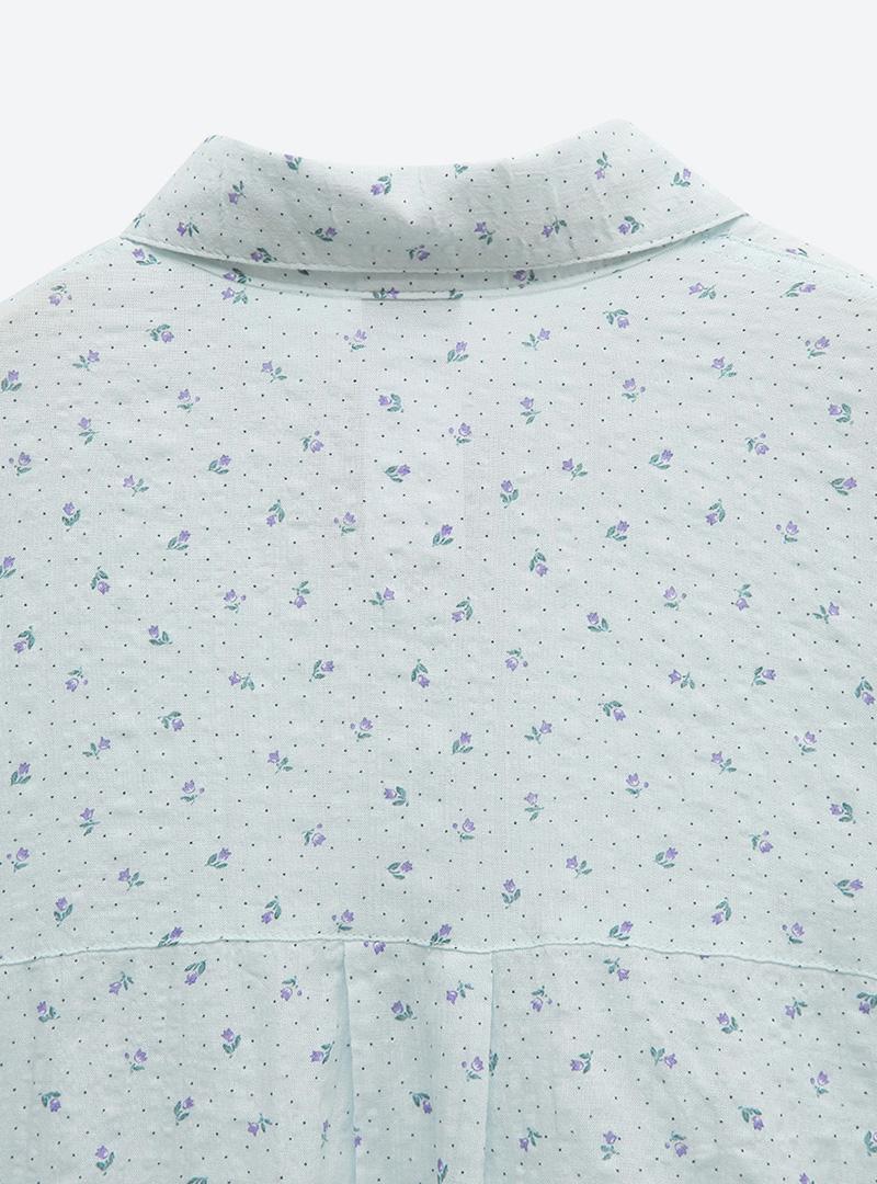 잔도트블룸 박시언발셔츠