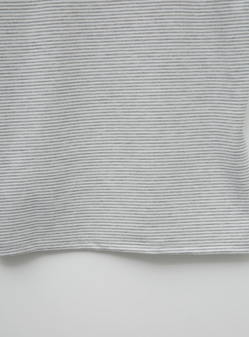 타이니줄무늬 캡소매슬림t