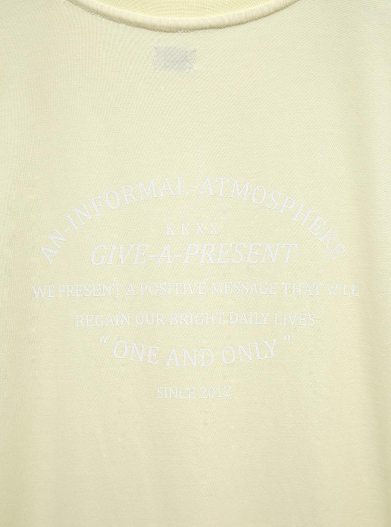 [KKXX] 淡色印字五分袖長洋裝