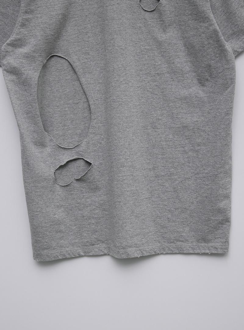 Distressed Back Boxy T-Shirt
