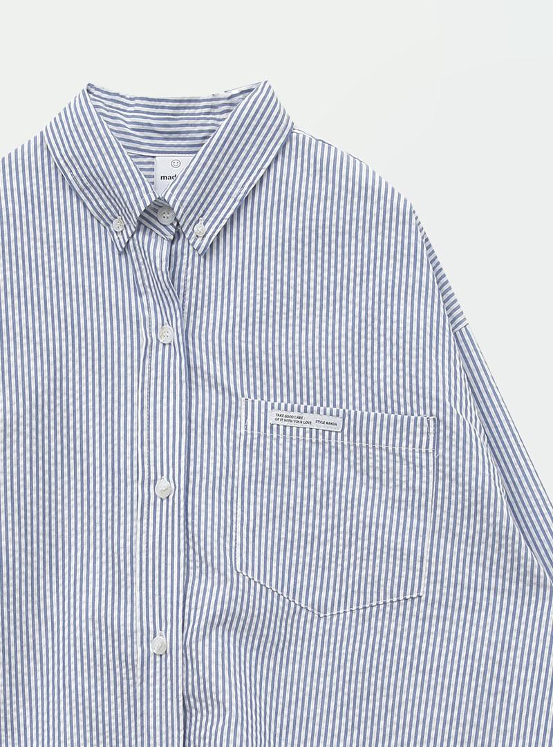 웰스트라이프 라벨박시셔츠