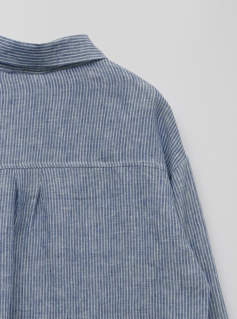 Chest Pocket Pencil Stripe Shirt