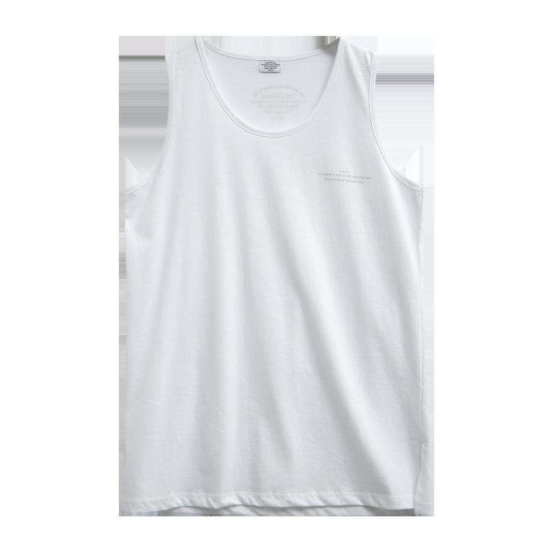 [KKXX] 淡色印字開衩襬無袖T恤