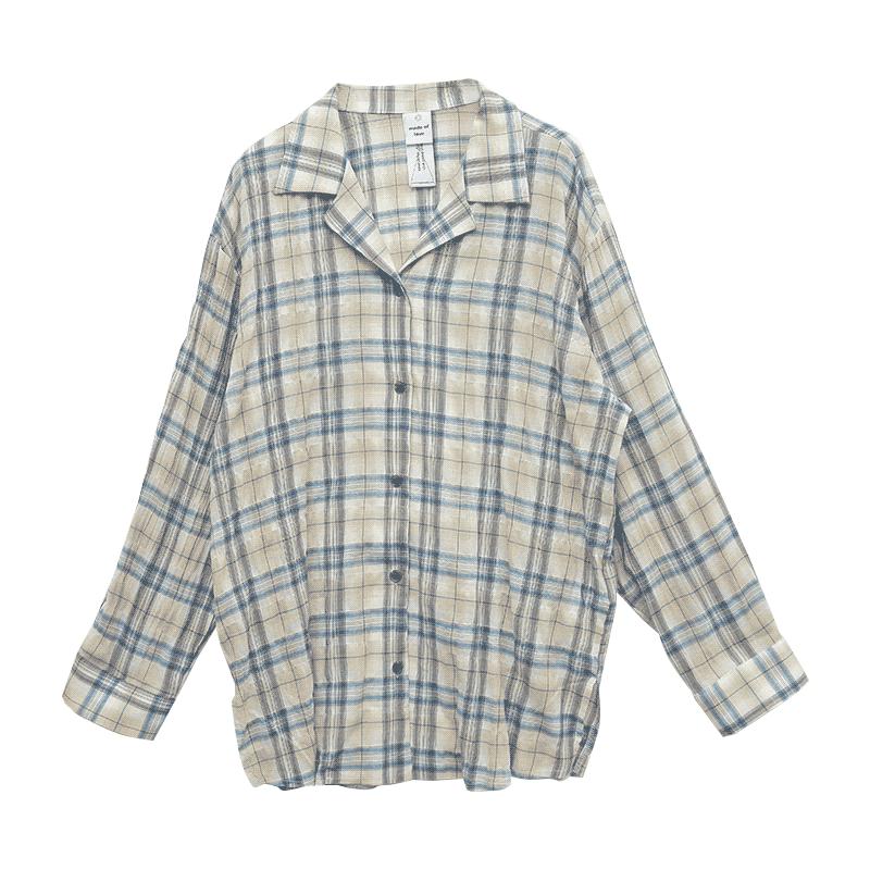 Revere Collar Tartan Plaid Shirt