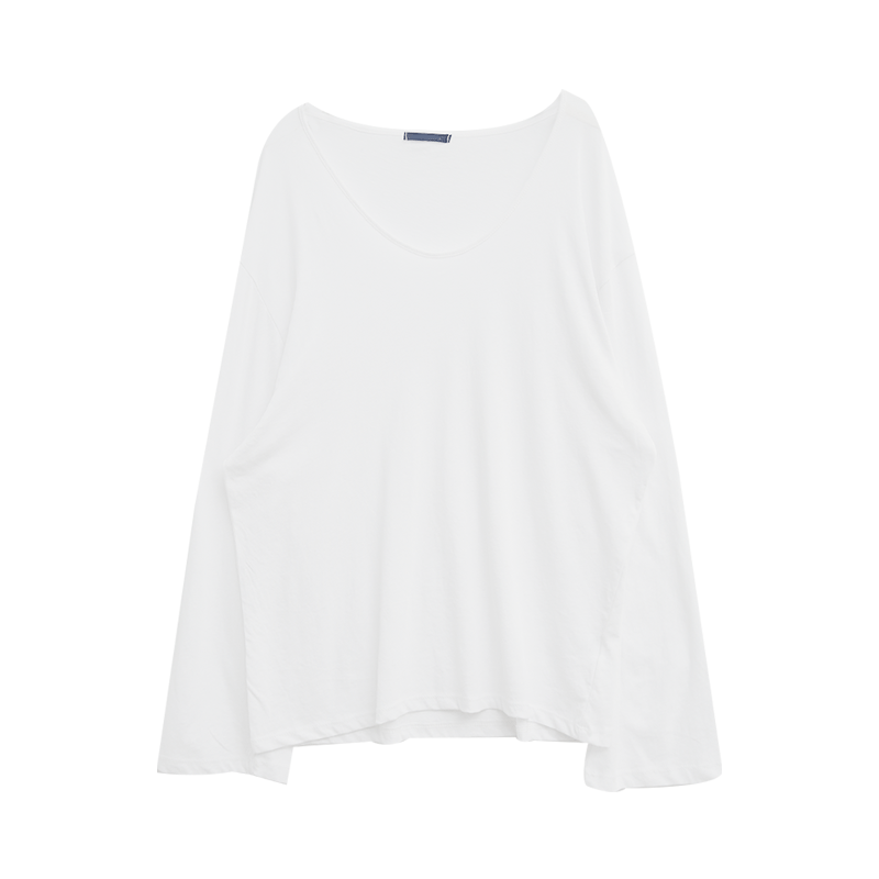 Loose Fit Solid Tone Cotton T-Shirt