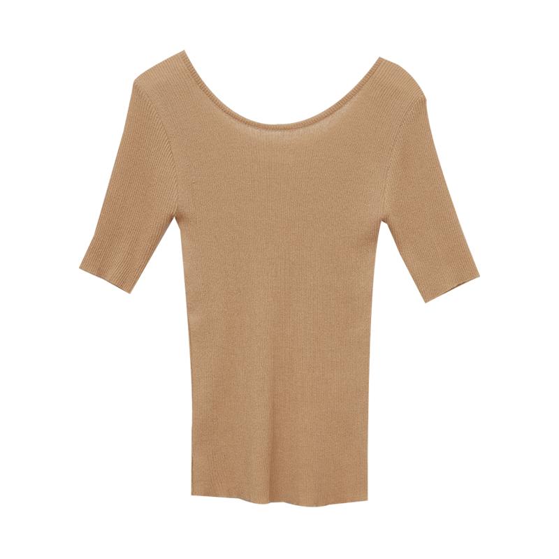 Half Sleeve Ribbed T-Shirt