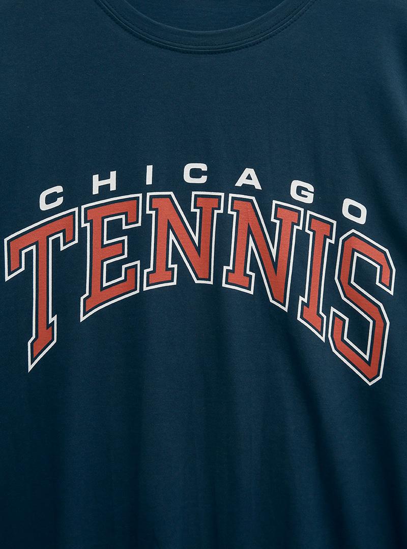 TENNIS Print Half Sleeve T-Shirt