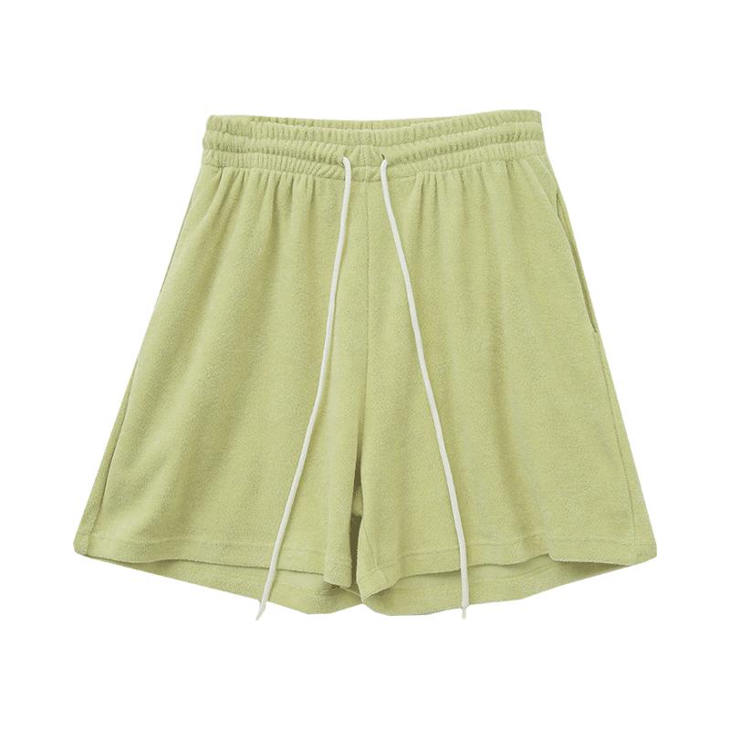 Tie-Waist Mid-Length Cotton Shorts
