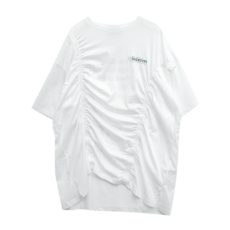 Statement-Printed Back T-Shirt