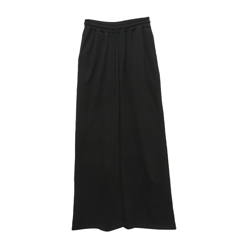 Wide-Leg Solid Tone Drawstring Pants