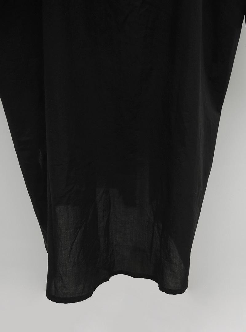 Self-Belt Button-Up Long Shirt
