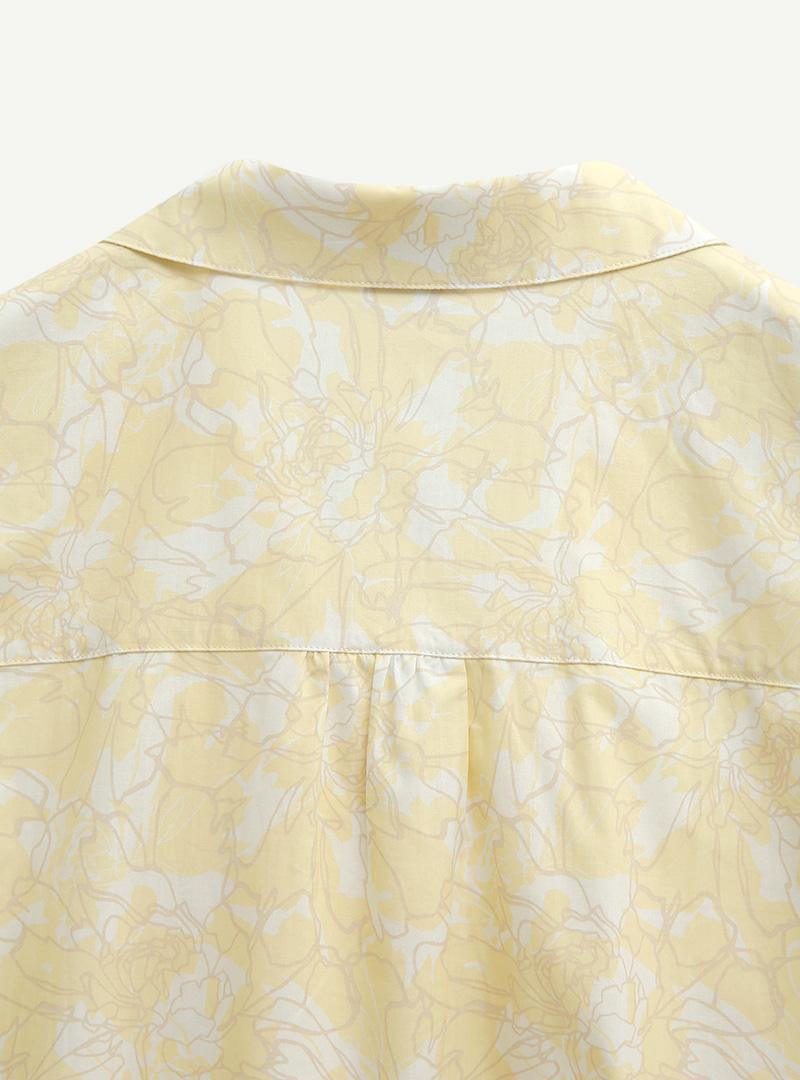 Floral Puff Sleeve Shirt