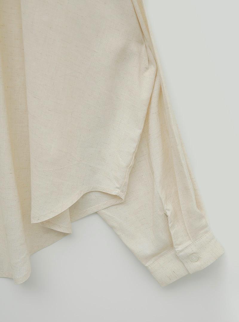 Linen Blend Oversized Button-Up Shirt