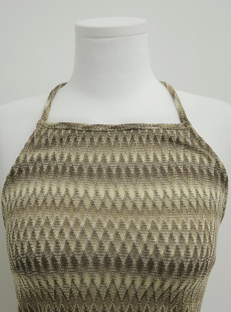 Zigzag Pattern Halterneck Top