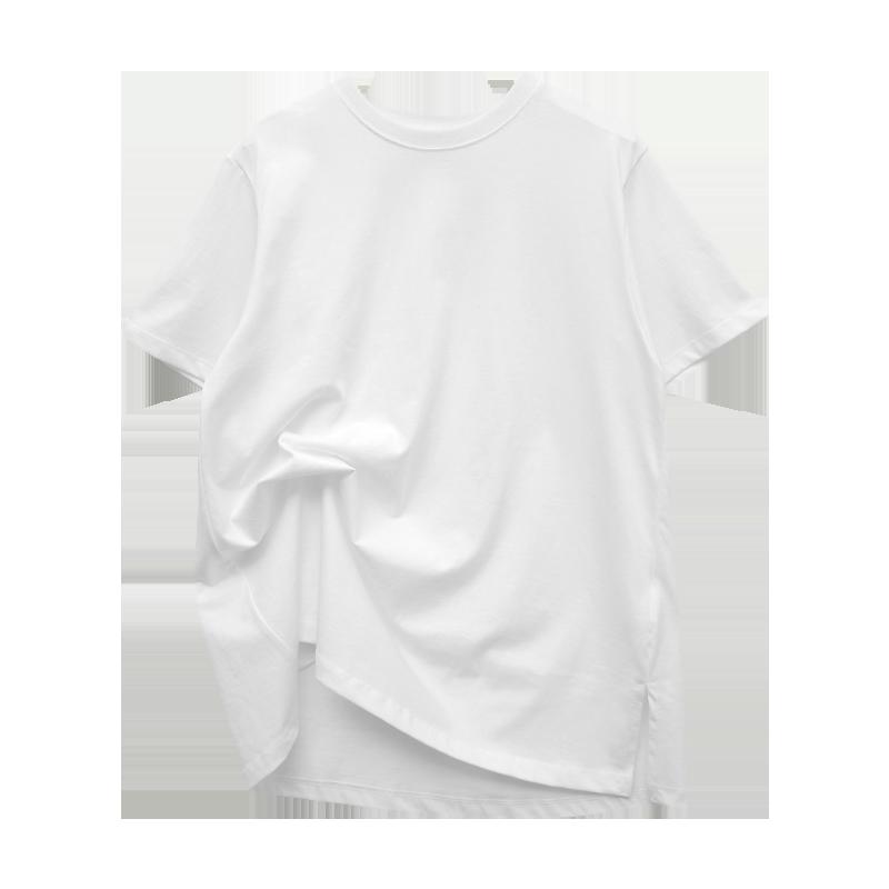 Single Side Slit Half Sleeve T-Shirt