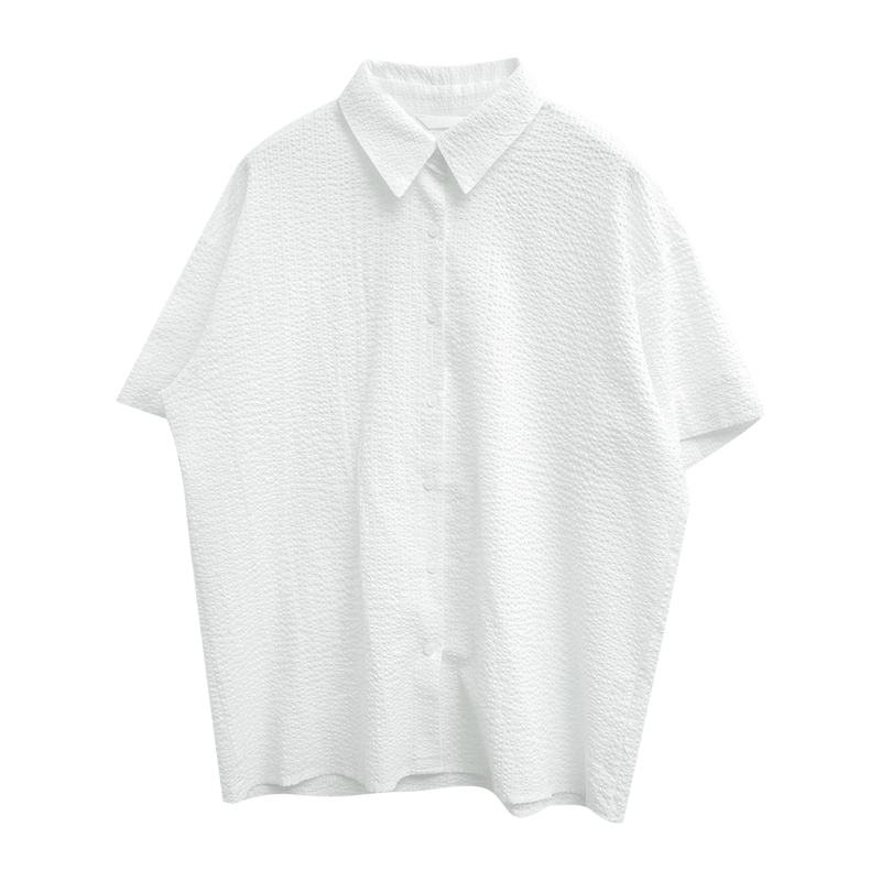 Embossed Texture Button-Up Shirt