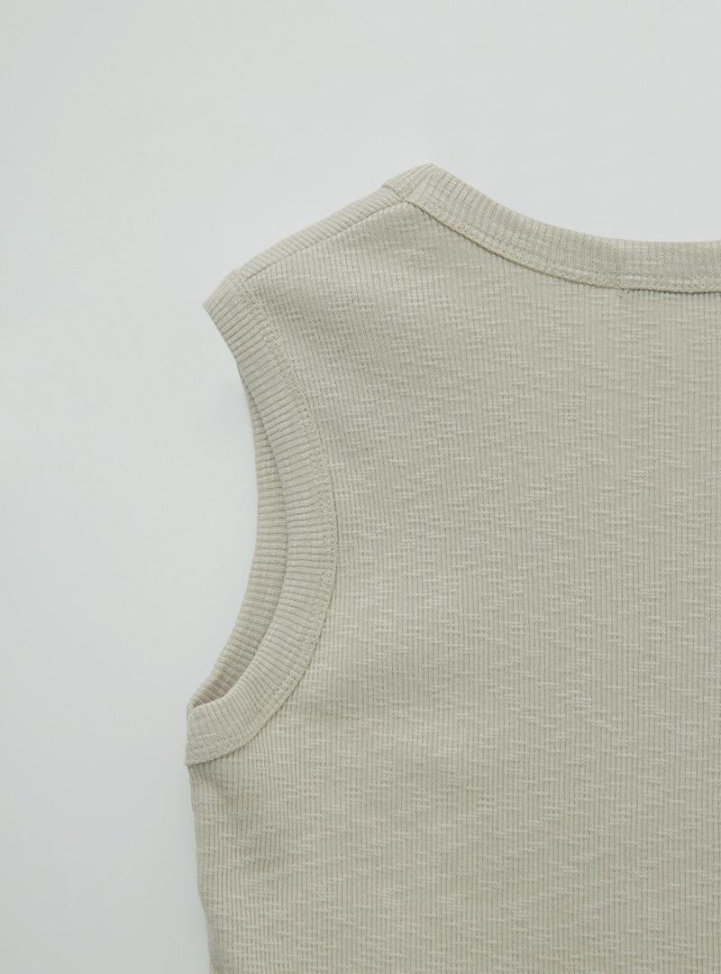 U-Neck Cotton Sleeveless Top