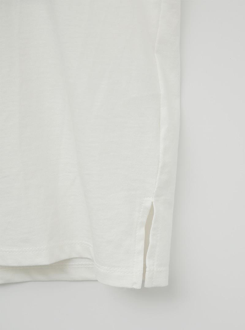French Print Crew Neck T-Shirt