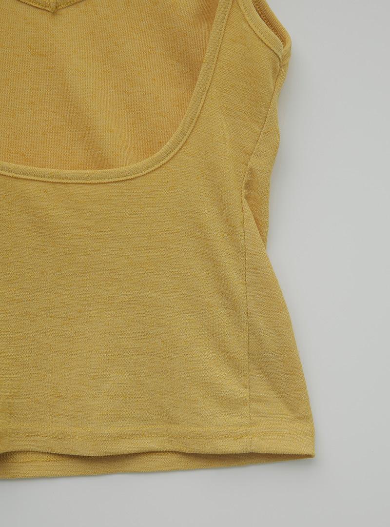 Low Back V-Neck Sleeveless Top