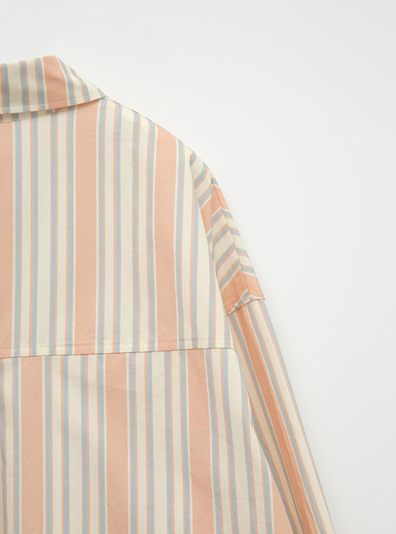 텐더스트라이프 포켓박시셔츠