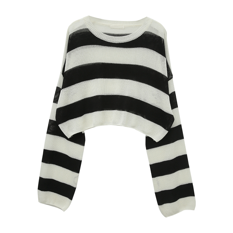 Striped Loose Fit Knit Top