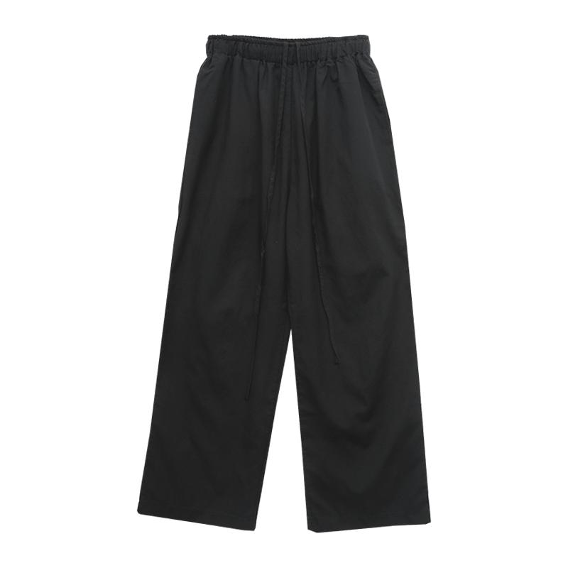Tie-Waist Solid Tone Loose Fit Pants