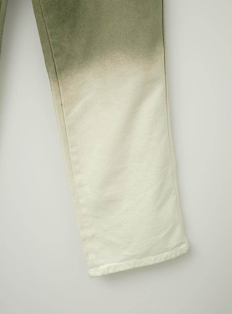 Two-Tone Straight-Cut Pants