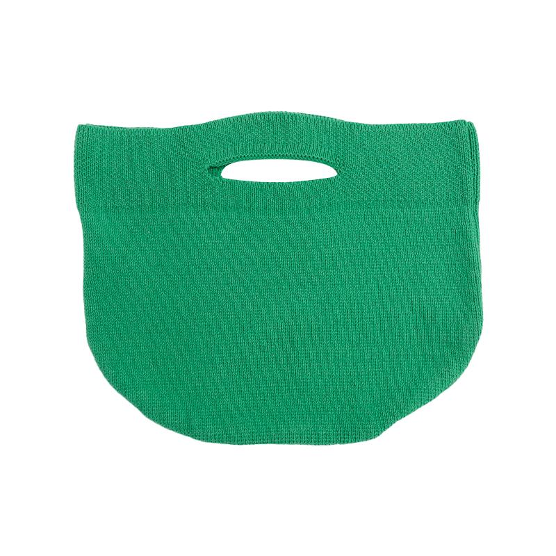 Cutout Handle Knit Handbag