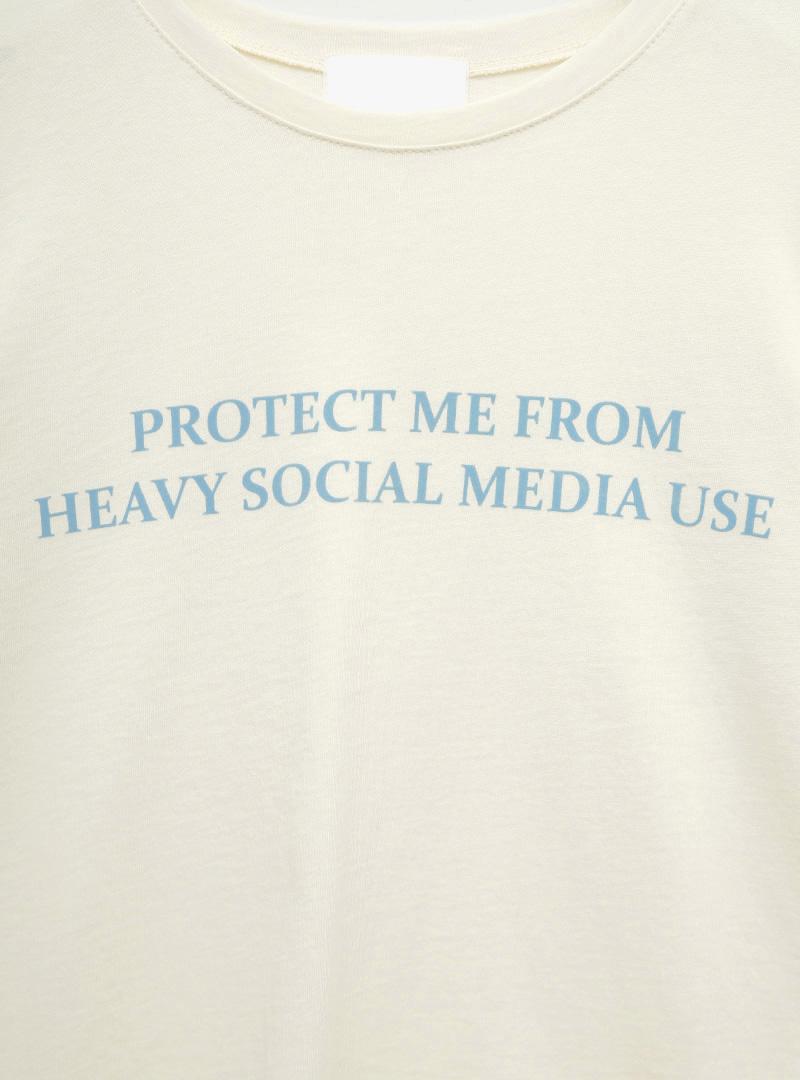 SOCIAL MEDIA Statement Print T-Shirt