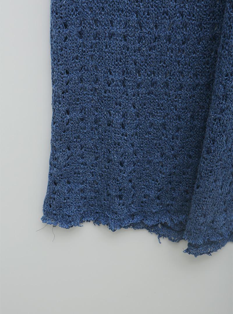 Punched Sleeveless Long Knit Dress