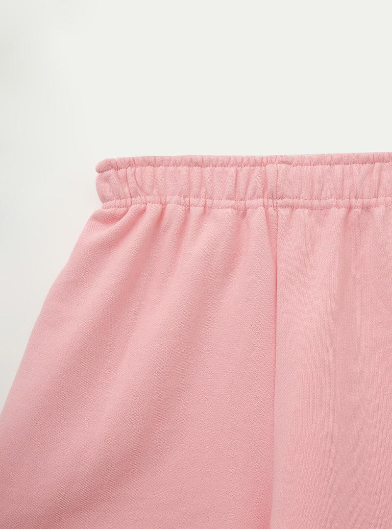 Elastic Waist Mid-Thigh Cotton Shorts