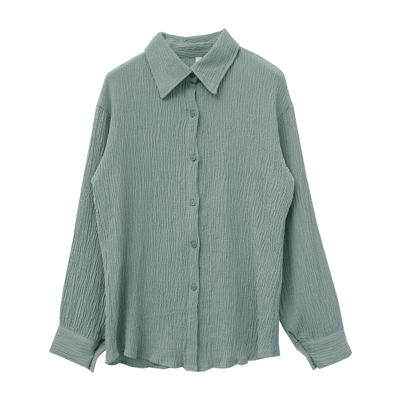 Button-Up Crinkled Shirt