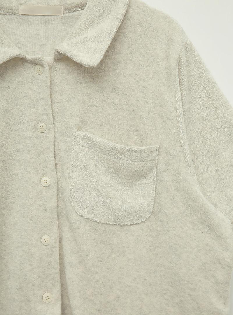 마일드테리터치 컬러포켓셔츠