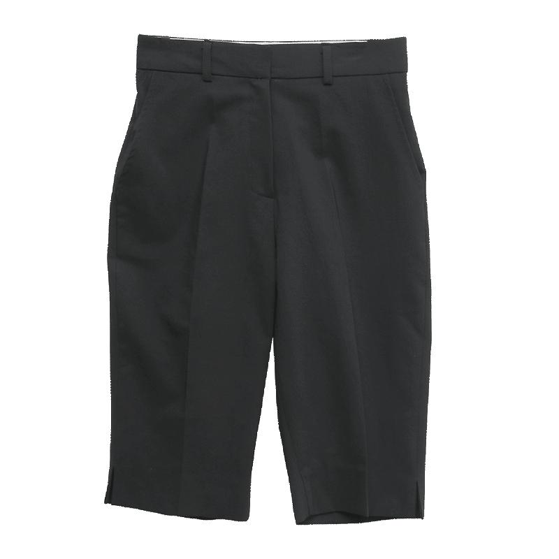 Creased Knee-Length Shorts