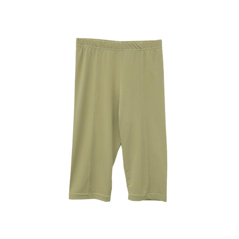 Elastic Waist Solid Tone Biker Shorts