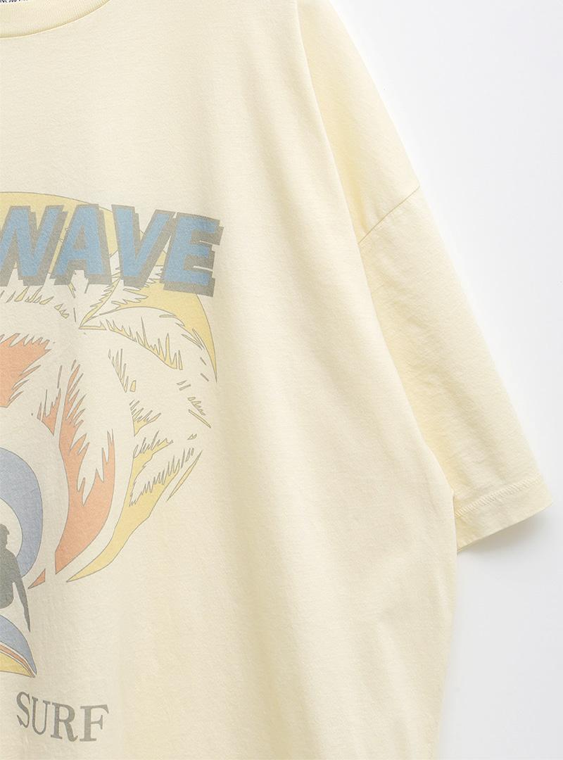 Surfing-Themed Print T-Shirt