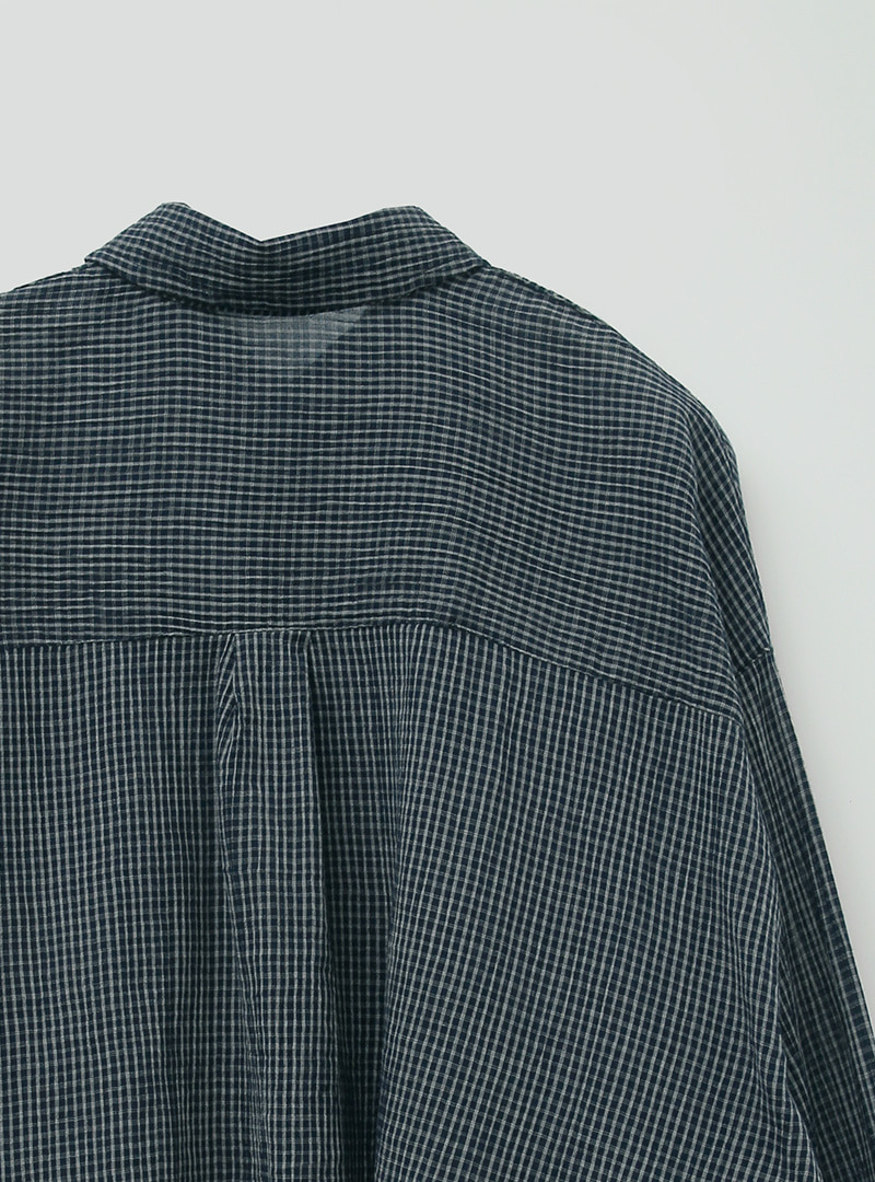 Check Pattern Buttoned Front Shirt