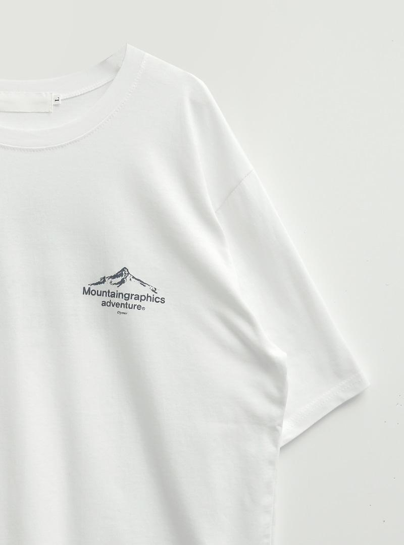 Mountain Graphic Print Oversized T-Shirt
