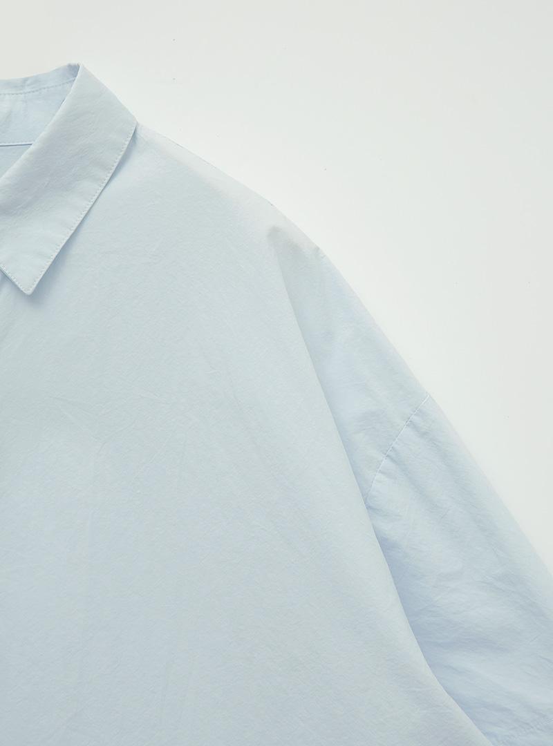 페일컬러워싱 박시하프셔츠