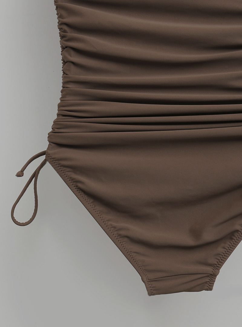 Ruched Side Solid Tone Monokini