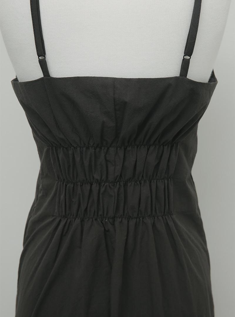 Shirred Waist Sleeveless Maxi Dress