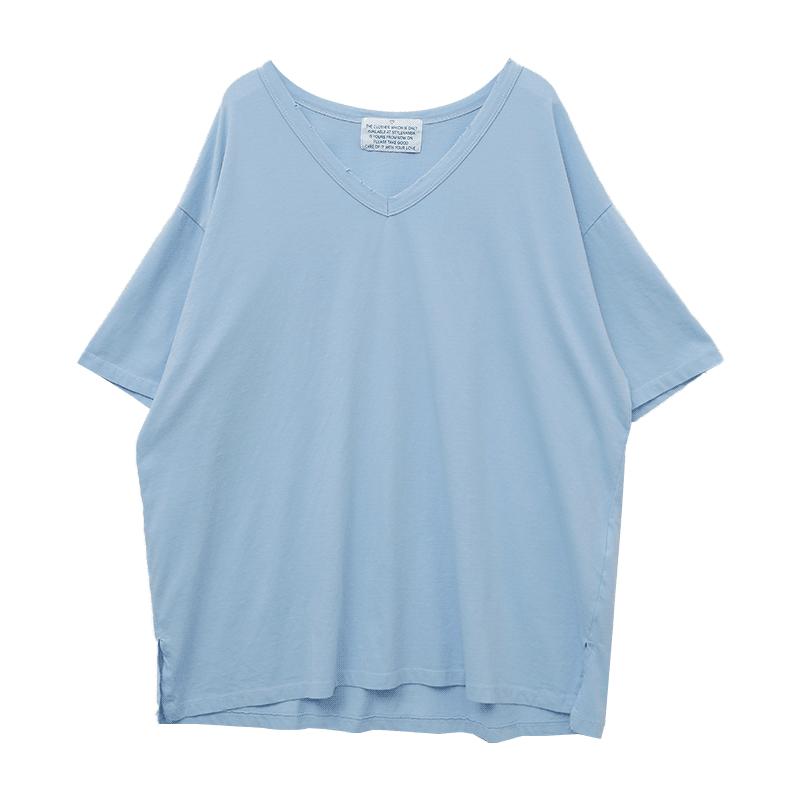 V-Neck Loose Fit Boxy T-Shirt