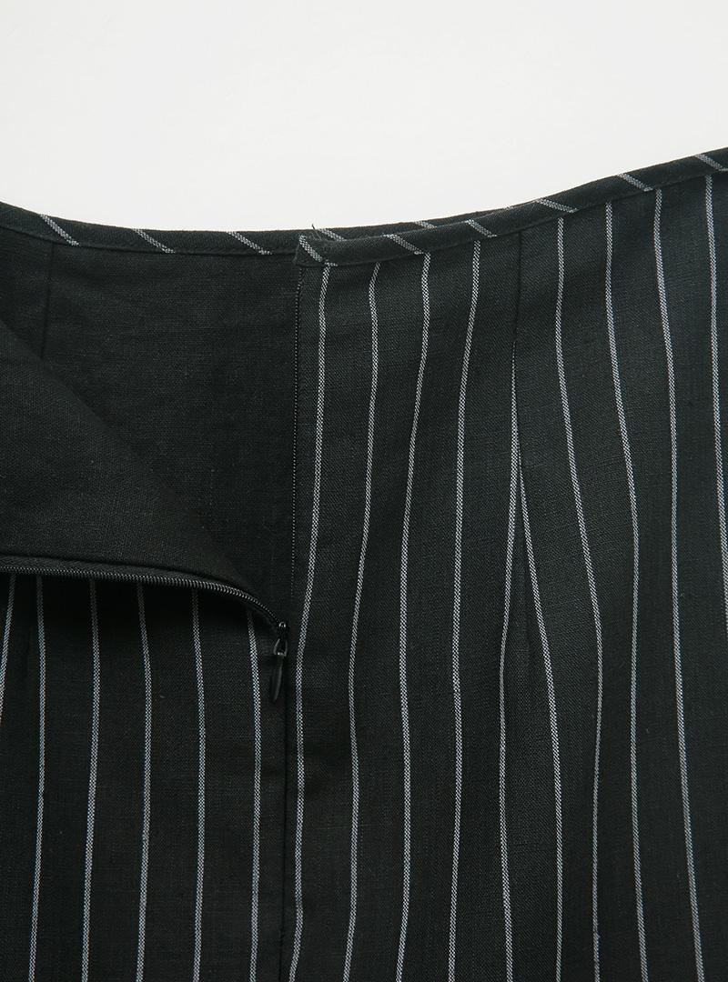 Striped Layered Long Skirt