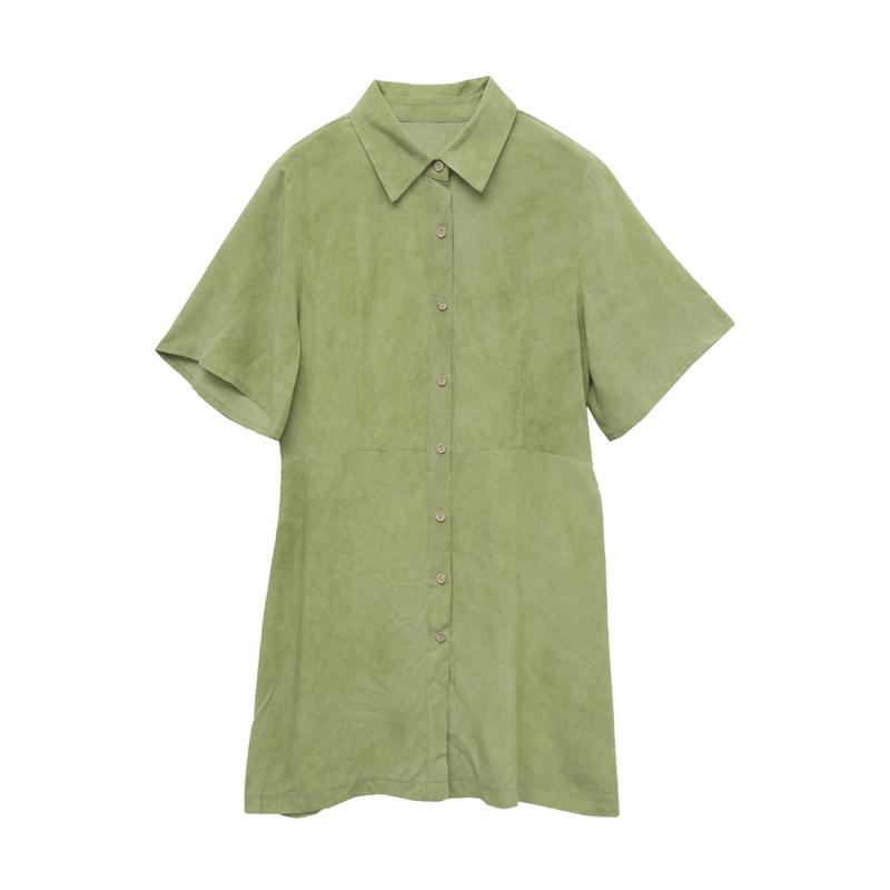 Tie-Back Mini Shirt Dress