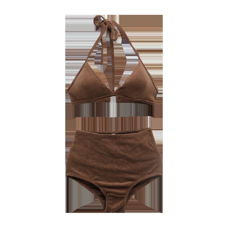 Halterneck Top and High Waist Bottoms Bikini