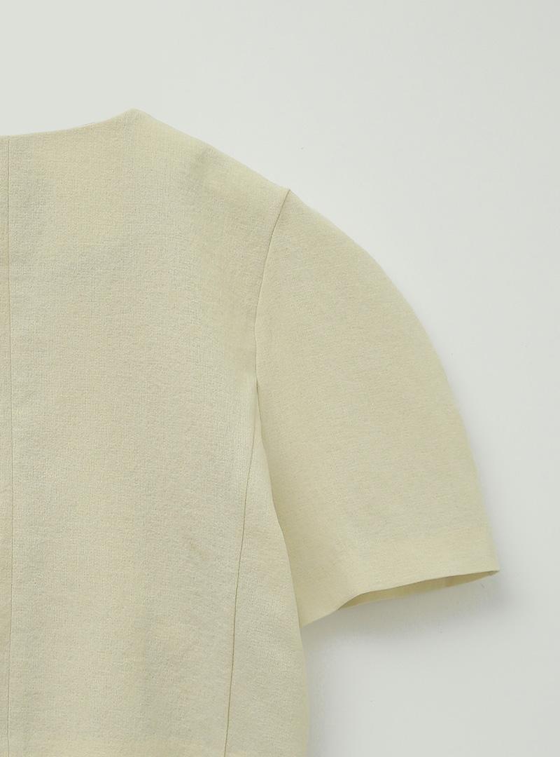 라운드헴무드 볼류미하프자켓