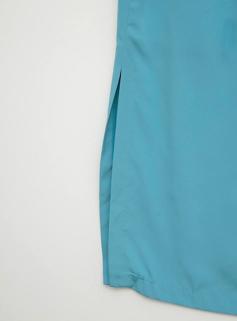 簡約柔美開衩襬純色長裙
